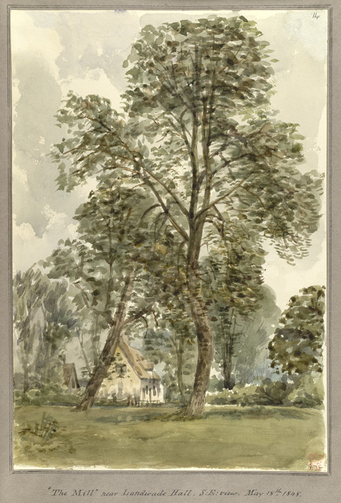 'The Mill' near Landwade Hall, S.E. view May 18th 1848